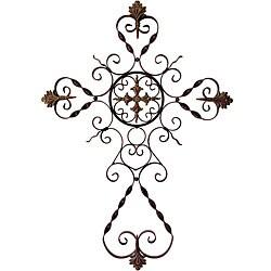 Provence Filigree Metal Wall Cross