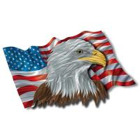 Ash Carl 'The Patriotic Eagle' Metal Wall Art | eBay