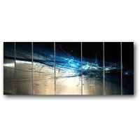 Shop Ash Carl 'Forever' 7-panel Abstract Metal Wall Art ...