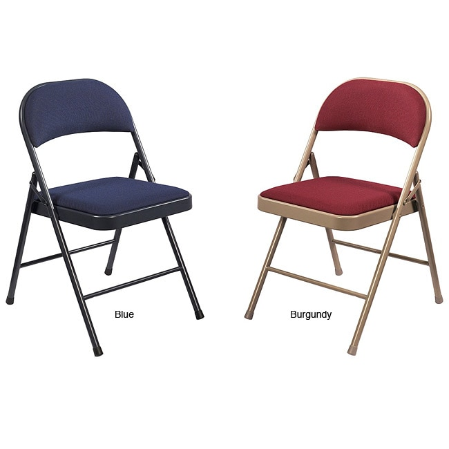 cloth padded folding chairs swivel chair gumtree glasgow shop nps commercialine fabric pack of 4 thumbnail