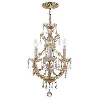 Crystorama Maria Theresa 3 Light Gold Mini Chandelier
