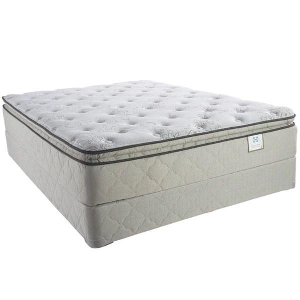 Sealy Brand Moonstruck Plush Euro Pillowtop King Size Mattress Set