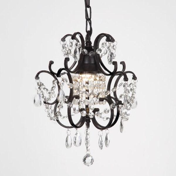 Gallery Versailles 1 Light Black Crystal Mini Chandelier