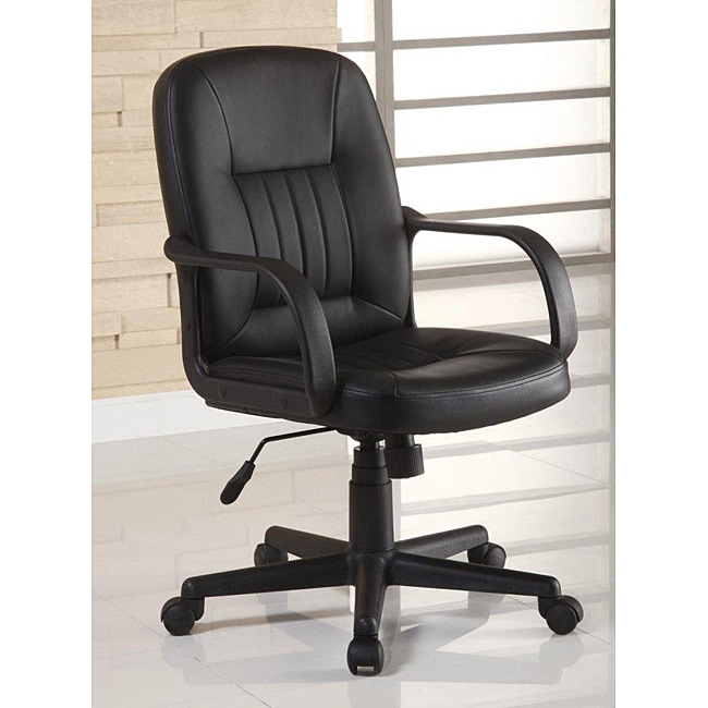 Shop Ergonomic Black Leather Executive Office Chair  Free