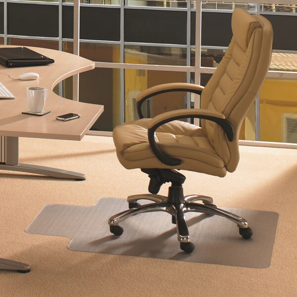 office chair mat 45 x 60 modern orange leather dining shop cleartex advantagemat pvc clear for standard pile carpets 3 8