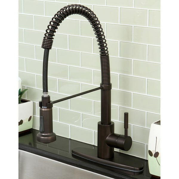 bronze kitchen faucet pull down kraft cabinets shop concord modern oil rubbed spiral free shipping today overstock com 5267390