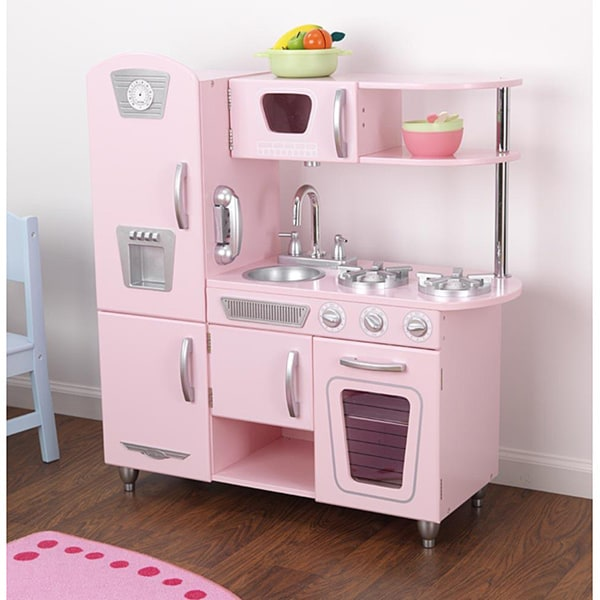 kid craft kitchen specialty stores shop kidkraft pink vintage playset free shipping today overstock com 5272067