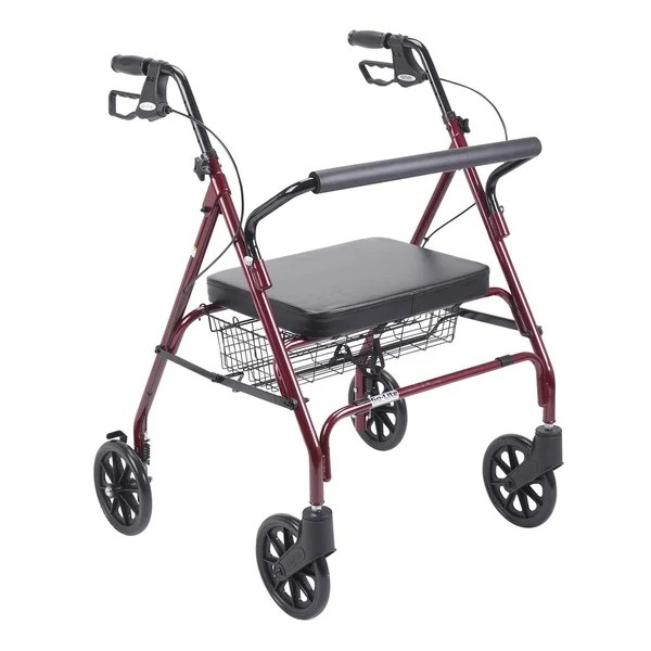 bariatric transport chair 500 lbs antique chippendale chairs shop drive heavy duty red large padded seat rollator walker