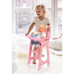 Badger Basket High Chair And A Half Glider Babies R Us Blossoms Butterflies Doll Pink