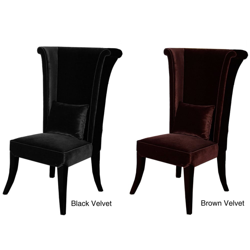 high back grey velvet dining chairs wedding bride and groom high-back chair - free shipping today overstock.com 13109893