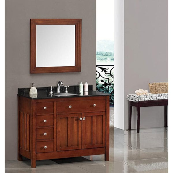 Shop OVE Decors Adrian 42inch Single Sink Bathroom Vanity with Granite Top  Free Shipping