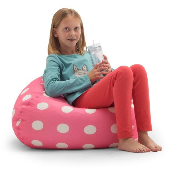 memory foam bean bag chair reviews and stool shop big joe beansack pink polka-dot - free shipping on orders over $45 ...