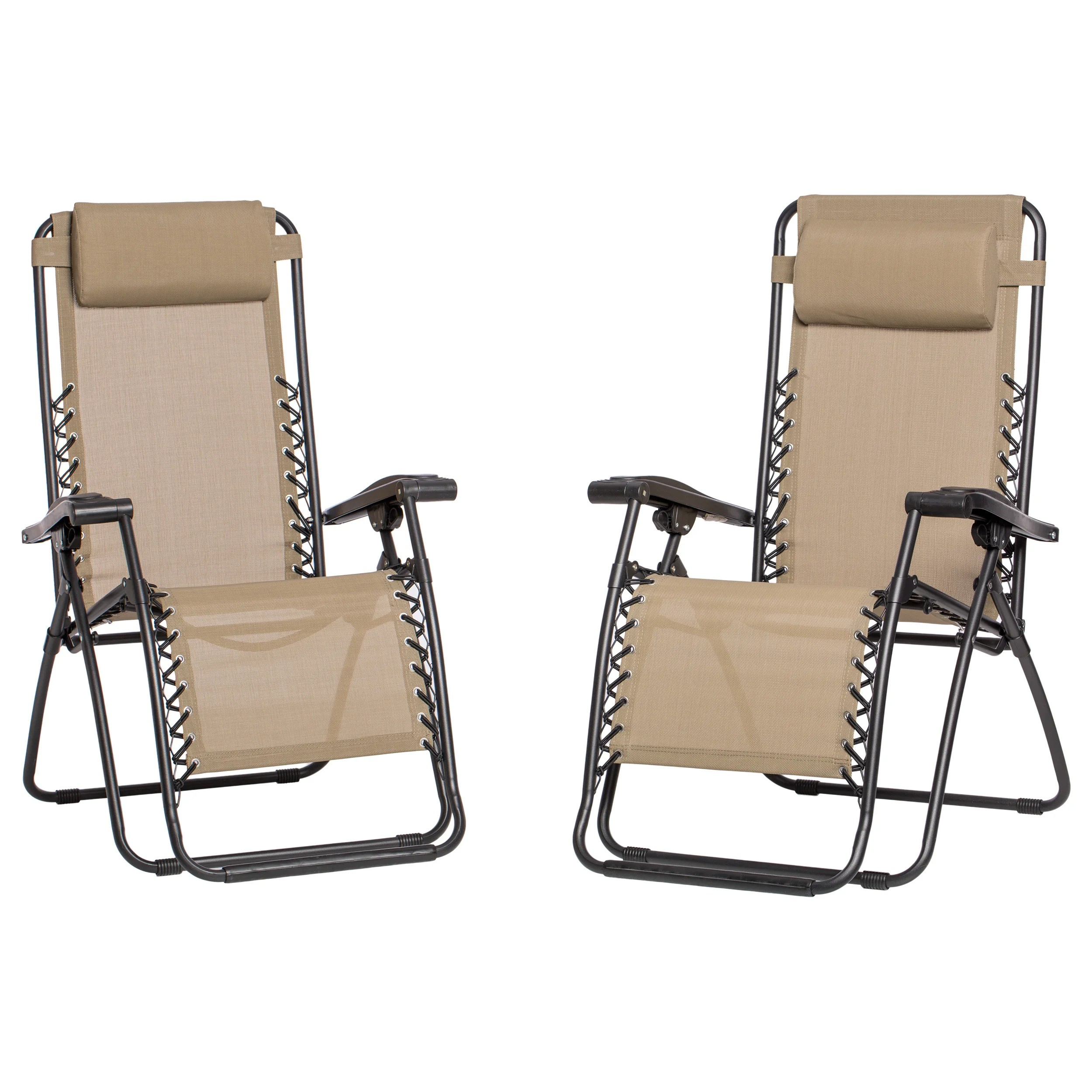 Indoor Zero Gravity Chair 2 Pack Zero Gravity Chairs Fold Reclining Camping Armrest