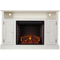 Harper Blvd Herschel Antique White Media Console Fireplace ...
