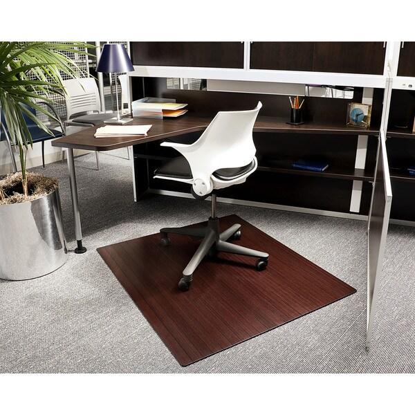 bamboo chair mat grey linen shop eco standard rectangular cherry 42 x 48 on
