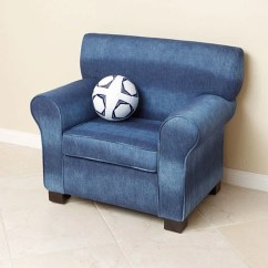 Pottery Barn Child Chair Covers High Dining Room Over Sized Blue Denim Fabric Kids Club - Free Shipping Today Overstock.com 13208767