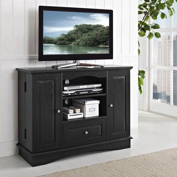 Shop Black Highboy 42 Inch Wood TV Stand On Sale Free