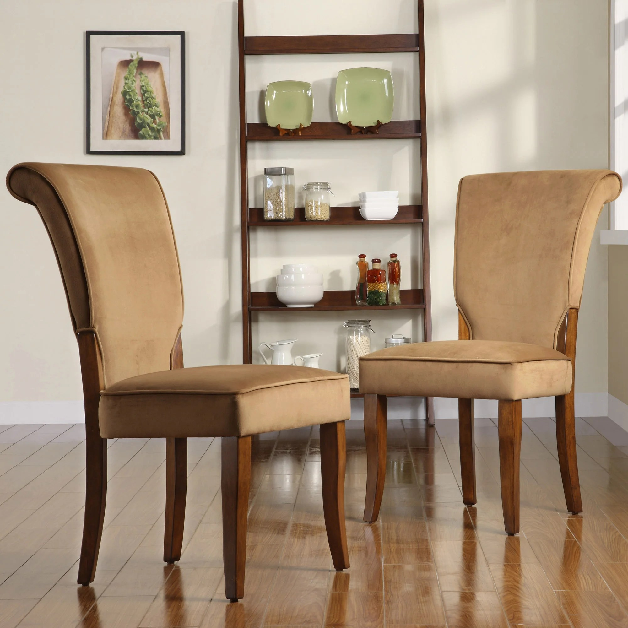 overstock com dining room chairs baby bjorn bouncy chair age tribecca home andorra peat velvet upholstered