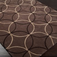 Shop Hand-tufted Contemporary Brown Retro Chic Brown ...
