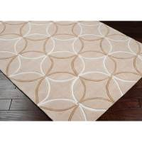 Shop Hand-tufted Contemporary Beige Retro Chic Geometric ...