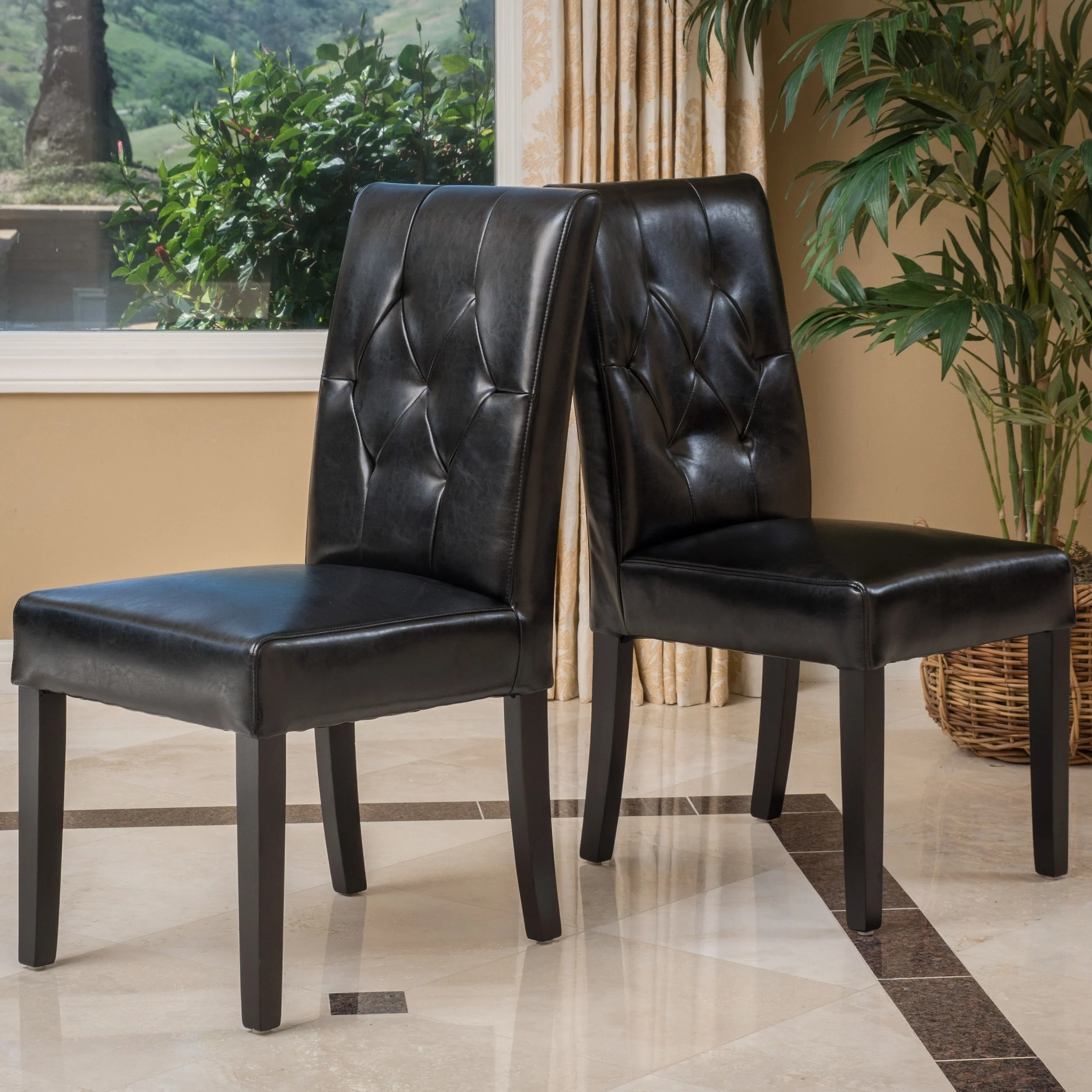 christopher knight leather chair dining covers for wedding home gentry bonded black