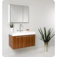 Fresca Vista Teak Bathroom Vanity and Medicine Cabinet ...