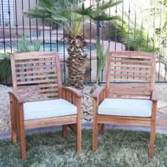 Wooden Porch Chairs Swing Chair Vector Shop Acacia Wood Patio Set Of 2 Free Shipping