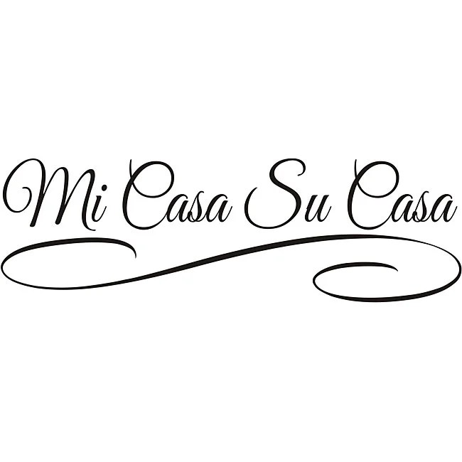 Shop Design on Style 'Mi Casa Su Casa' Vinyl Art Quote