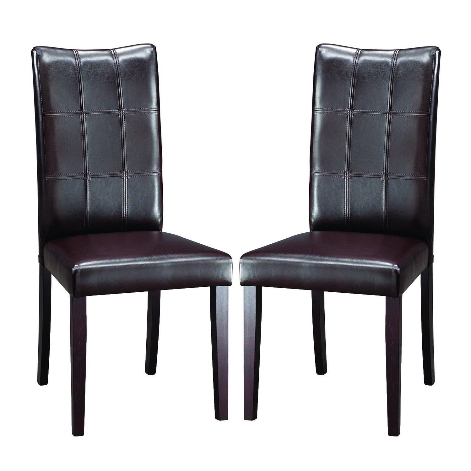 overstock com chairs office chair jamaica eugene dark brown modern dining set of 2 free