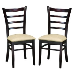 Kitchen Chairs Modern Herman Miller Chair Repair Parts Keitaro Dark Brown Dining Set Of 2 Free