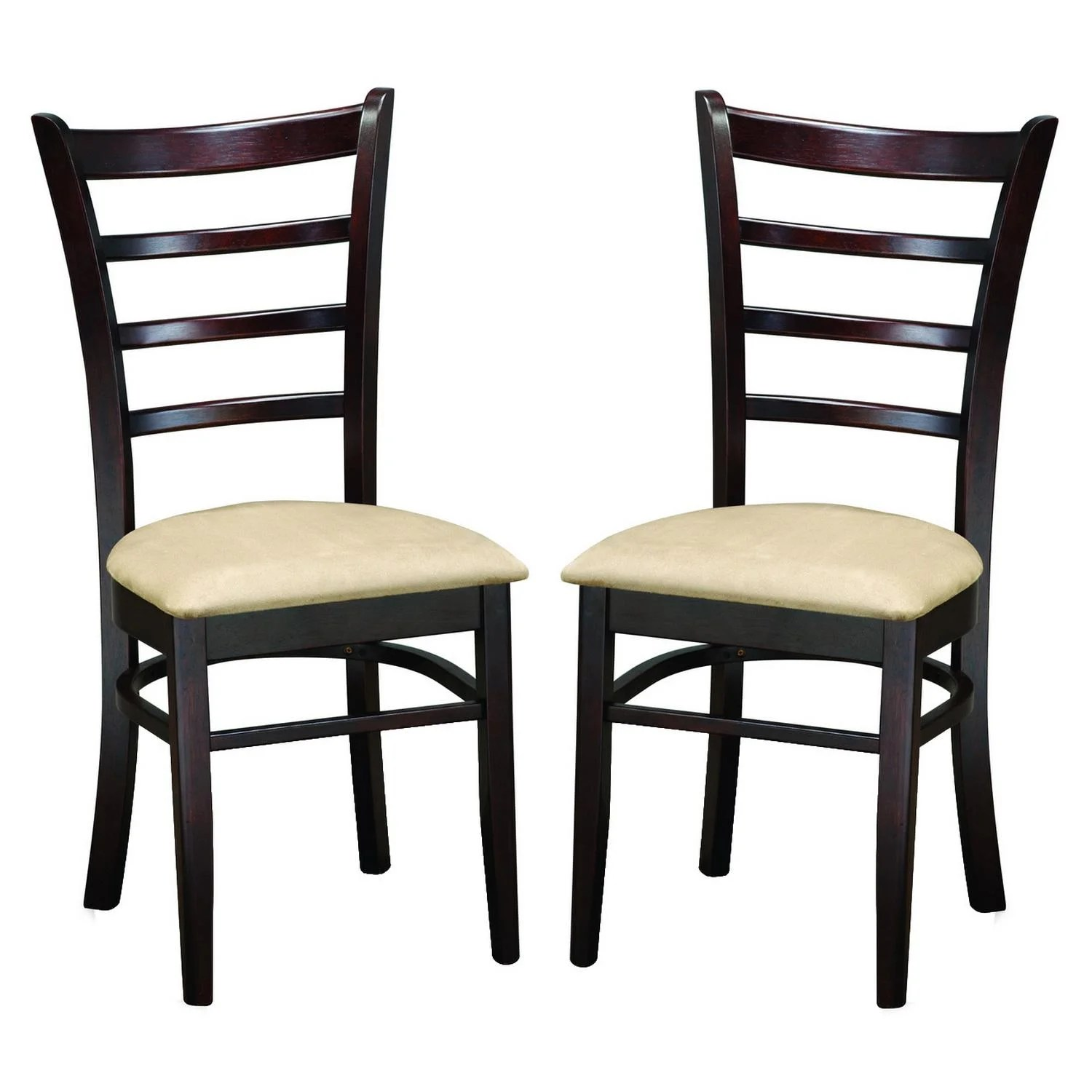 set of 2 dining chairs double folding chair with umbrella keitaro dark brown modern free