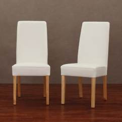 Safavieh Dining Chairs Ladder Back With Rush Seats Modern White Leather Chair (set Of 2) - Free Shipping Today Overstock.com 13358769