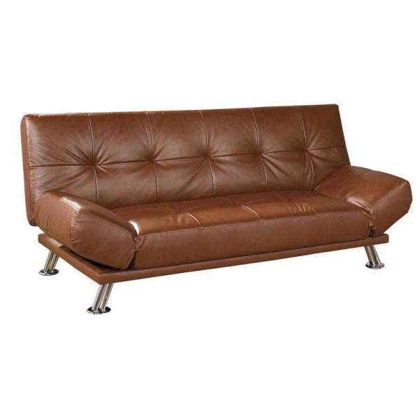 Leather Ette Brown Futon Sofa Bed - Free Shipping Today 5140861