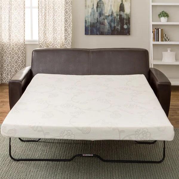 Innere 4 5 Inch Memory Foam Full Size Sofa Sleeper Mattress