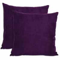 Purple Microsuede Feather and Down Filled Throw Pillows ...