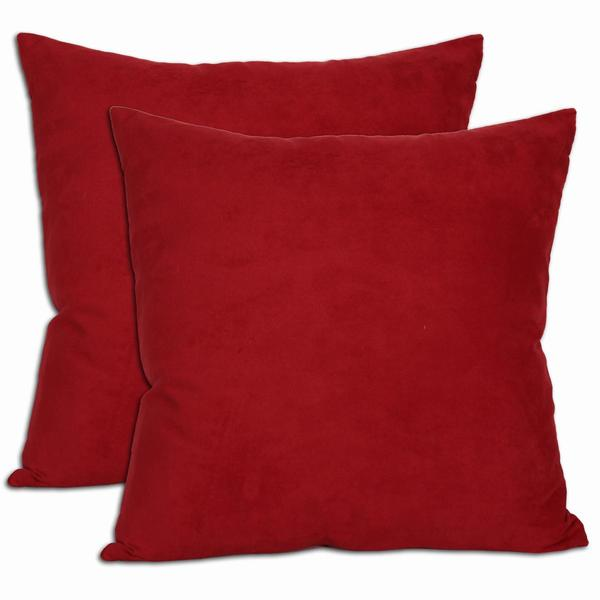 Shop 18inch Red Microsuede Feather and Down Filled Throw