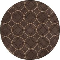 Hand-tufted Contemporary Brown Retro Chic Brown Geometric ...
