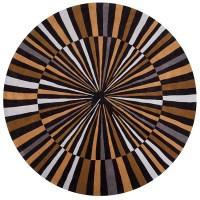 Hand-tufted Retro Chic Black Geometric Rug (8' Round ...