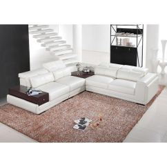 Aria Fabric Modern Sectional Sofa Set 50s Sofas Italia Designs White Leather - Free ...