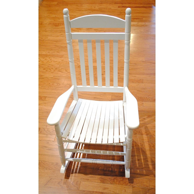 worldstock fair trade white weather resistant mango wood patio rocking chair china product l