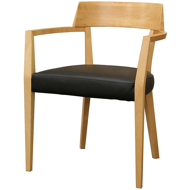 laine modern light wood black seat dining chairs set of 2 l13429800
