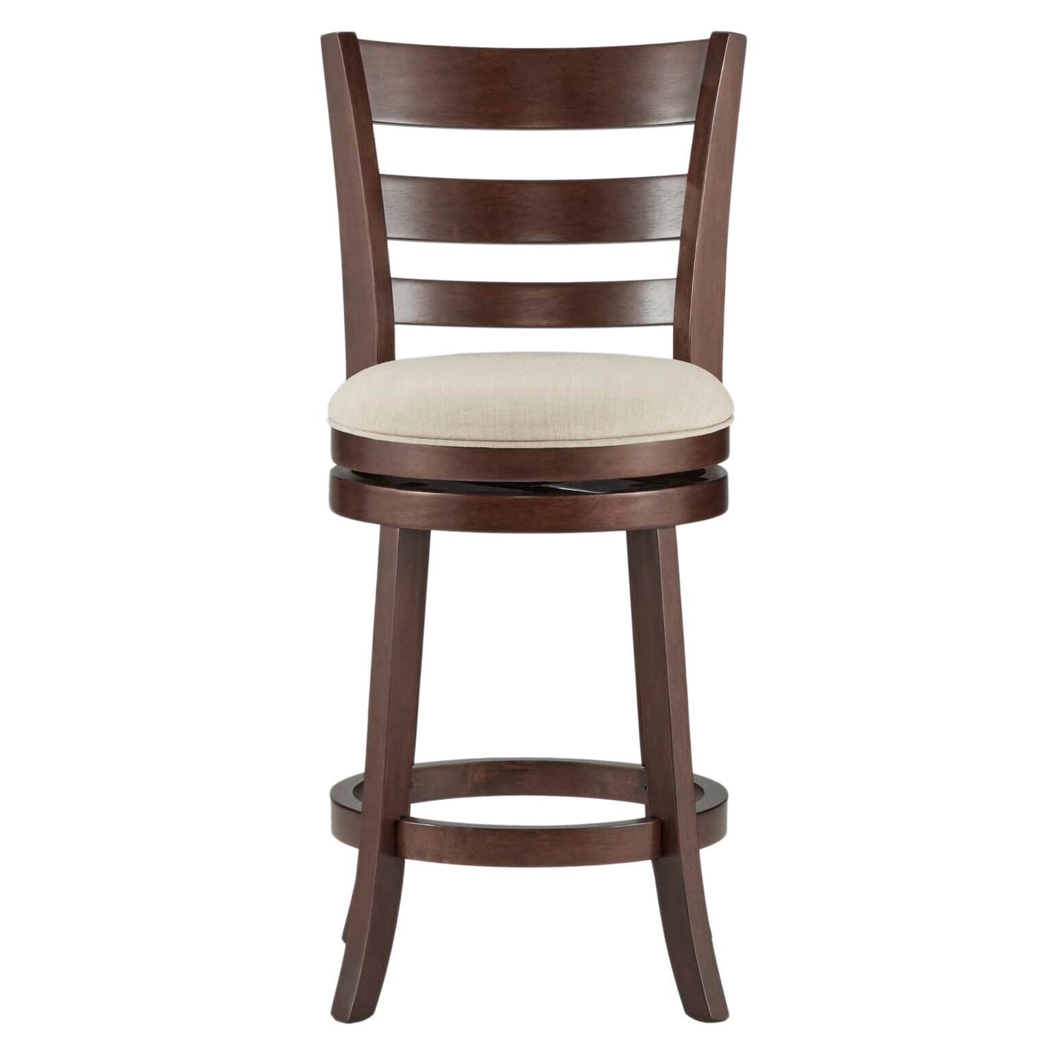 Counter Height Chairs With Arms Details About Verona Linen Ladder Back Swivel 24 Inch High Back Counter Height Stool By