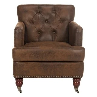 leather living room chairs glamorous furniture buy brown online at overstock com our safavieh manchester antiqued tufted club chair