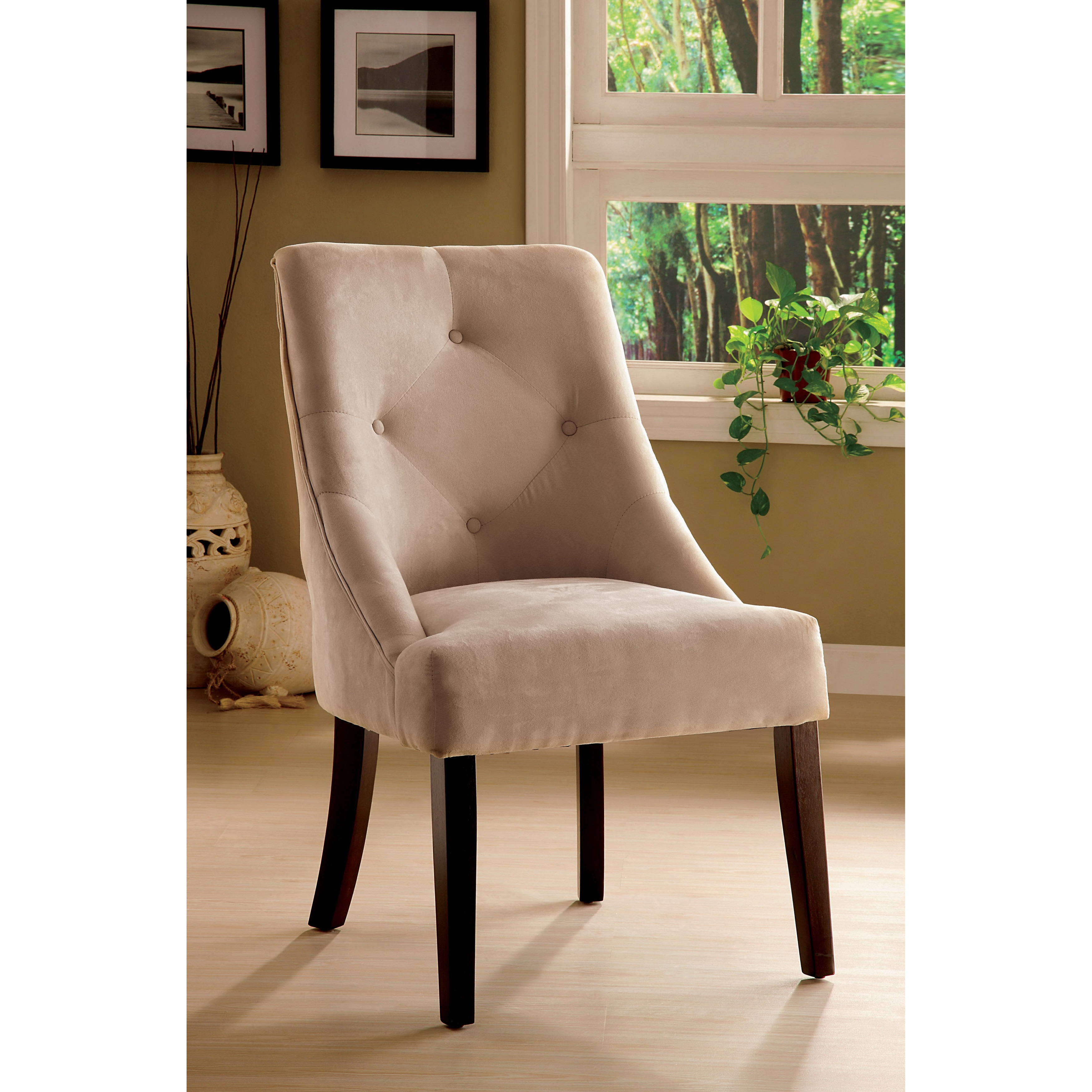 Microfiber Dining Chairs Furniture Of America Mocha Aura Leisure Microfiber Dining