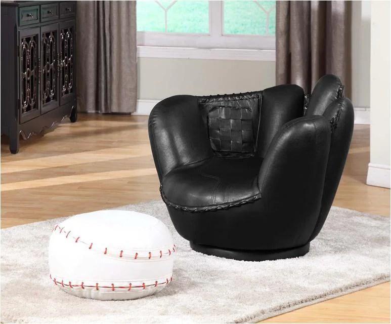 Baseball Swivel Chair w Ottoman  Free Shipping Today