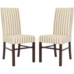 Striped Dining Chair Round Kitchen Tables And Chairs Shop Safavieh Parsons Stripe Linen Thumbnail Pack Of 2