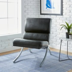 Rialto Black Bonded Leather Chair Tall Back Shop Strick Bolton On Sale Amp