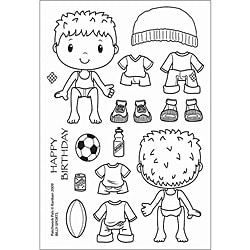 Shop Patchwork Pals 'Billy Sports' Clear Acrylic Stamps