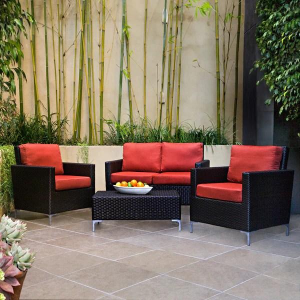 6pc outdoor patio garden wicker furniture rattan sofa set sectional grey small velvet handy living napa springs tulip red 4 piece indoor/outdoor ...
