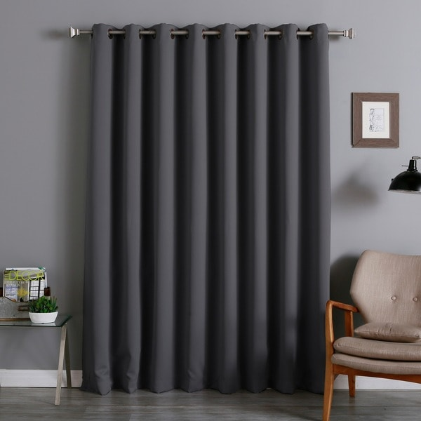 Aurora Home Extra Wide Thermal 96inch Blackout Curtain Panel  Free Shipping Today  Overstock